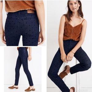 Madewell High Rise Skinny Denim Jeans Polka Dot